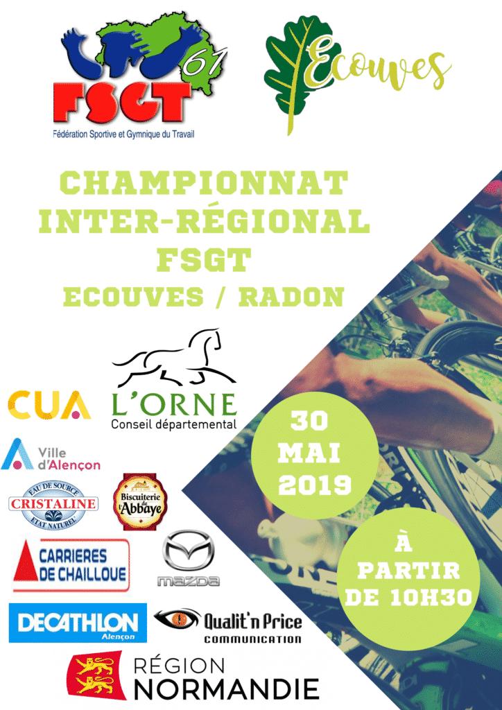 affiche du championnat inter régional de syclisme FSGT à Radon