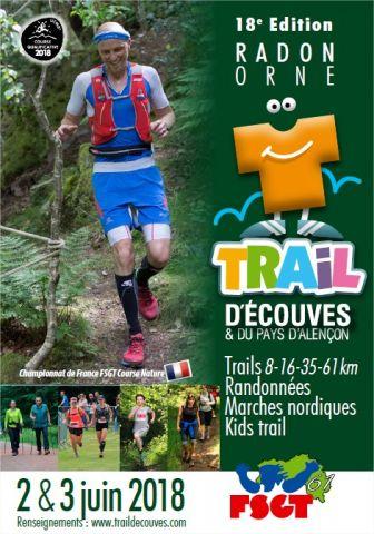 Affiche du trail d'Écouves 2018